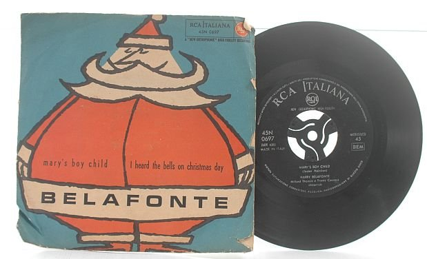 "HARRY BELAFONTE Mary's Boy Child ITALY Italian 7"" PS"