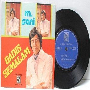 "Malay 70s M. SANI Gadis Semalam  7"" PS EP"
