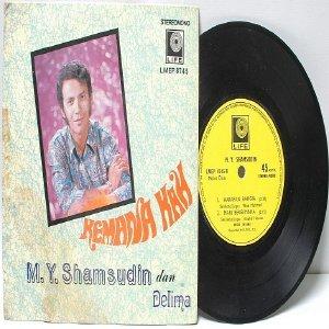 "Malay 70s Pop M.Y. SHAMSUDIN & DELIMA Kemana Kah 7"" PS EP"