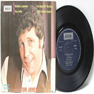 "TOM JONES Wichita Lineman 4-TRACK SINGAPORE Decca 7"" PS EP"