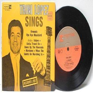 """TRINI LOPEZ Bye Bye Blackbird OZ AUSTRALIA  Aussie 7"""" 45 RPM PS EP"""
