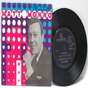"MATT MONRO Yesterday SINGAPORE 4 TRACK  7"" 45 RPM PS EP"