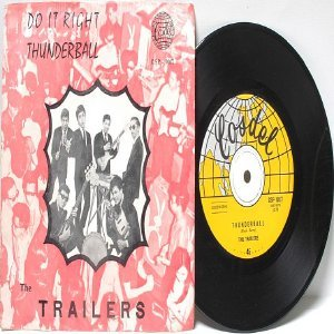 "60s ASIAN BAND The Trailers THUNDERBALL Cosdel 7"" 45 RPM PS"