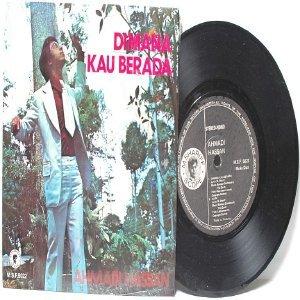 """Malay 70s Pop AHMADI HASSAN Dimana Kau Berada 7"""" PS EP"""