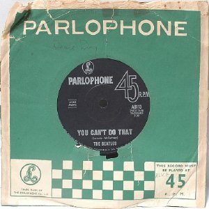 "THE BEATLES Can'y Buy Me Love PARLOPHONE AUSTRALIA Aussie 7"" 45 RPM PS"