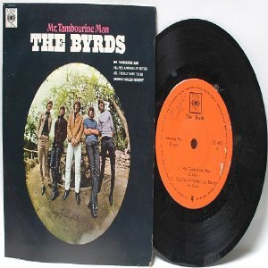 "THE BYRDS  Mr. Tambourine Man BOOB DYLAN CBS INTERNATIONAL Asia  7"" 45 RPM PS EP"