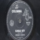 "HERMAN'S HERMITS Kansas City COLUMBIA AUSTRALIA  7"" 45 RPM"