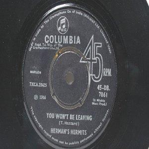 "HERMAN'S HERMITS Listen People INDIA Asia COLUMBIA  7"" 45 RPM"