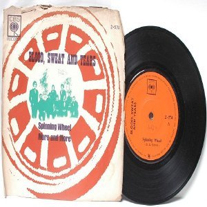 """BLOOD, SWEAT AND TEARS Spinning Wheel CBS INTERNATIONAL Asia  7"""" 45 RPM PS"""