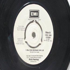 """Malay Pop RINTO HARAHAP Sepasang Merpati PROMO  7"""" 45 RPM"""