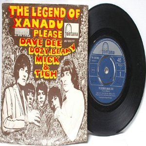 "DAVE DEE DOZY,BEAKY MICK & TICH Legend Of  Xanadu INTERNATIONAL Fontana 7"" 45 RPM PS"