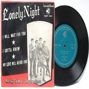 "Asian Elvis ROCKY TEOH & THE CASTINOS Lonely Night ASIA 7"" 45 RPM PS EP"