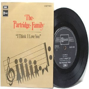 "THE PARTRIDGE FAMILY I Think I Love You MALAYSIA Asia  7"" 45 RPM PS EP"