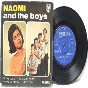 "Asian 6os Band NAOMI & THE BOYS As Tears Go By ROLLING STONES  7"" 45 RPM PS EP"