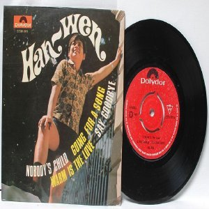 "ASIAN ARTIST Han Wen NOBODY'S CHILD Asia 7"" 45 RPM PS EP"