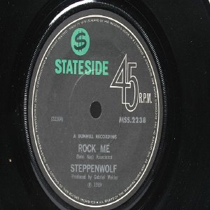 "STEPPENWOLF Rock Me NEW ZEALAND HMV  7"" 45 RPM PS"