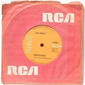 "ELVIS PRESLEY Rags To Riches AUSTRALIA Aussie OZ  7"" 45 RPM"