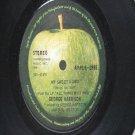 "BEATLES GEORGE HARRISON My Sweet Lord APPLE International  7"" 45 RPM"