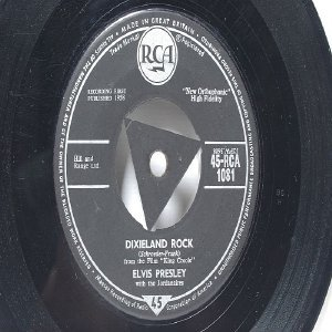"ELVIS PRESLEY Dixieland Rock BRITISH RCA 7"" 45 RPM"