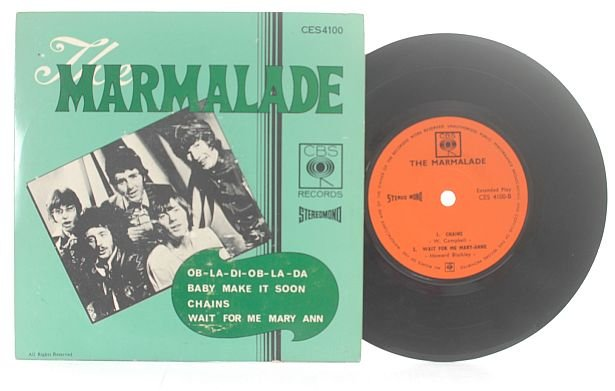 """MARMALADE Ob-La-Di CBS IINTERNATIONAL 7"""" 45 RPM"""