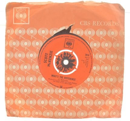 "SCOTT McKENZIE San Francisco 7"" CBS UK 45 RPM"