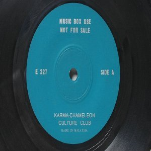 "CULTURE CLUB Karna Chamaleon   MALAYSIA Jukebox Promo GREEN LABEL 7 "" 45 RPM"