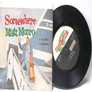 "MATT MONRO Somewhere  ASIA Malaysia 7"" 45 RPM PS EP"