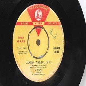 "RARE Malay 60s Pop P RAMLEE Rukun Islam JANGAN TINGGAL DAKU  Parlophone India 7"""