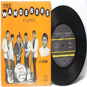 """RARE Asia 60s Band THE WANDERERS J. Sham 7"""" 45 RPM PS EP"""