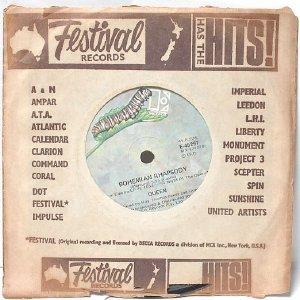 "QUEEN Bohemian Rhapsody  AUSTRALIA Aussie ELEKTRA CATEPILLAR  7"" 45 RPM  1975"