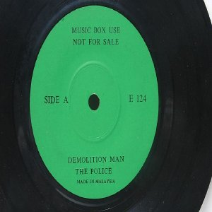 "THE POLICE Demolition Man PROMO JUKEBOX Malaysia ASIA 7"" 45 RPM"