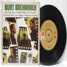 "BURT BACHARACH 4 Track A&M INTERNATIONAL Asia 7"" 45 RPM PS EP"
