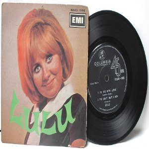 "LULU to Sir With Love SINGAPORE  ASIA 7"" 45 RPM PS EP"