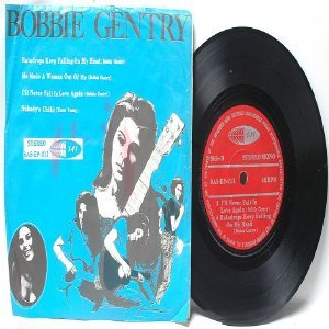 "BOBBIE GENTRY Raindrops KAREN YOUNG Malaysia ASIA  7"" 45 RPM PS EP"