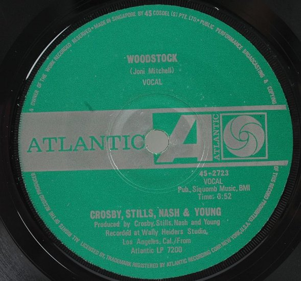 CROSBY STILLS NASH YOUNG CSNY Deja Vu SINGAPORE 7""