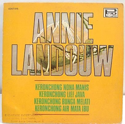 """ANNE LANDOUW Keronchong INDON 1960s 7"""" EP 45 Rpm"""