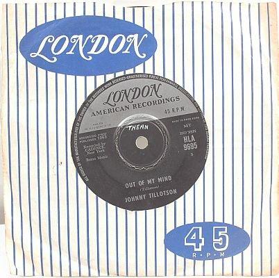 """JOHNNY TILLOTSON Judy Judy 1963 HONG KONG 7"""" 45 Rpm"""