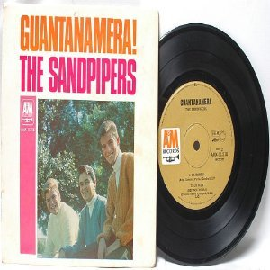 "THE SANDPIPERS Guantanamera!  AUSTRALIAN Aussie 7"" 45 RPM PS EP"