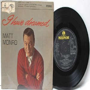 "MATT MONRO I Have Dreamed BLACK AND YELLOW PARLOPHONE  U.K.  7"" 45 RPM PS EP Mono"