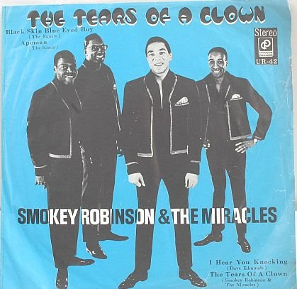 "SMOKEY ROBINSON & MIRACLES Clown ASIA 7"" Pic sleeve EP"