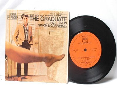 "SIMON AND GARFUNKEL The Graduate INTERNATIONAL CBS  7"" 45 RPM PS EP"