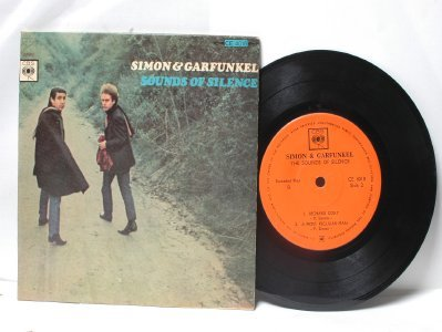 "SIMON & GARFUNKEL Sounds Of Silence INTERNATIONAL CBS  7"" 45 PS EP"