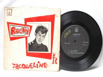 "ROCKY TEOH Jacqueline ASIAN ELVIS  7"" 45 RPM PS EP"