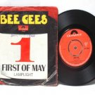 "BEE GEES First Of May INTERNATIONAL Polydor 7"" 45 RPM PS"
