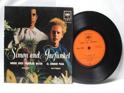 "SIMON & GARFUNKEL Bridge Toubled Water ASIA Malaysia CBS 7"" PS EP"