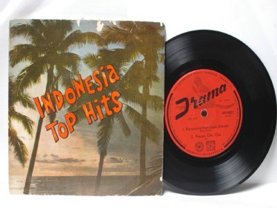 "INDONESIA TOP HITS bengawan Solo 4 Track  ASIA 7"" 45 RPM PS EP"