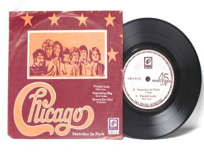 "CHICAGO vs GLASS ONION Purple Lady MALAYSIA Asia 7"" 45 RPM PS EP"