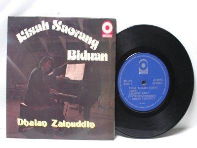 "Malay 70s Pop DHALAN ZAINUDDIN Kisah Biduan 7"" PS EP"