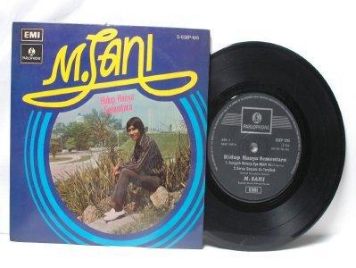 """Malay 70s Pop M. SANI Hidup Hanya Sementara EMI 7"""" PS EP"""