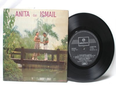 "Malay 70s Pop ANITA & ISMAIL  Reggie Verghese 7"" PS EP"